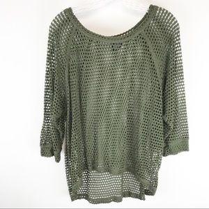 Bobeau Army Green Top XL